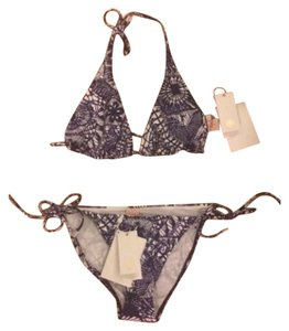Tory Burch NWT Dream Catcher Halter Bikini Top And Bottom