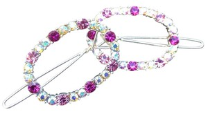 Pink Tonal Crystal Hair Pins Pink Crystal Hair Pins