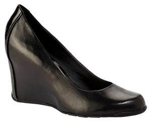Kenneth Cole Reaction Ken Platform Style Hot Patent Leather Trend Sexy Plain Conservative Solid Sandal Boot Foot Feet Spade Women Black Wedges