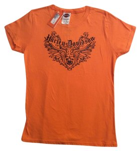 Harley Davidson Top Orange