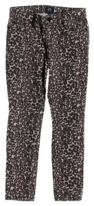 American Icon American Idol Animal Print Denim Skinny Jeans-Medium Wash