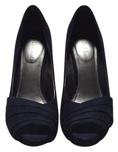 Kelly & Katie Suede Wedding Blue Navy Platforms