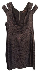 Single Evening Mini Shimmer Snakeskin Young Fitted Dress