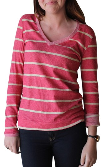 39e647049b on sale Urban Outfitters Stripes V-neck Comfy Longsleeve Sweater - 55% Off  Retail