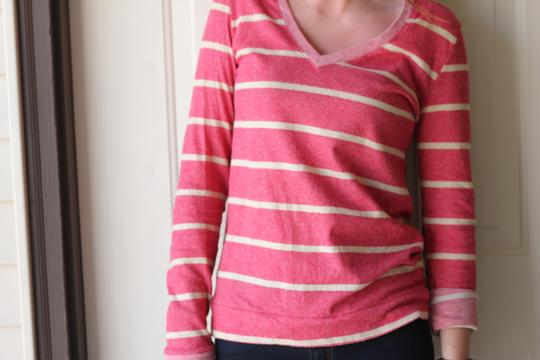 cae56916 on sale Urban Outfitters Stripes V-neck Comfy Longsleeve Sweater - 55% Off  Retail