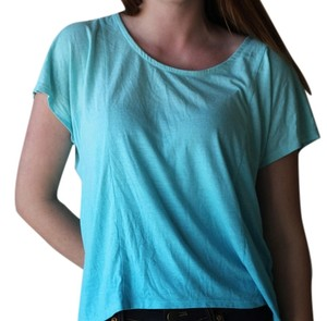 Mossimo Supply Co. Ombre Crop T Shirt Blue