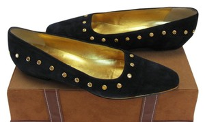 Francesca mori Leather Size 8.50 Narrow Good Condition Very Dark Navy Flats