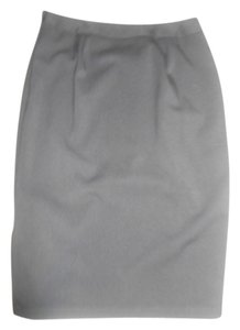 Newport News Tea Length Long Polyester Blend Skirt BLACK