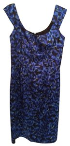 Maggy London Satin Fitted Evening Knee Length Dress
