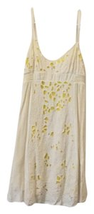 Urban Outfitters short dress Cream Yellow Lace Lace on Tradesy
