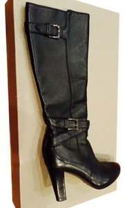 Cole Haan Leather Knee High Black Boots