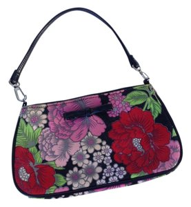 Lulu Guinness Floral Canvas Small Baguette