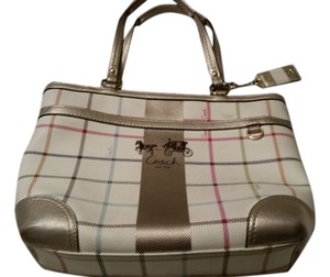 Coach Tote in Heritage Tattersall