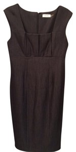 Calvin Klein Fitted Flattering Pleated Detail Knee Length Dress