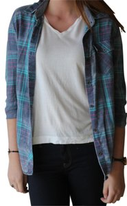Nollie Button Down Shirt Green, Purple & Pink Plaid