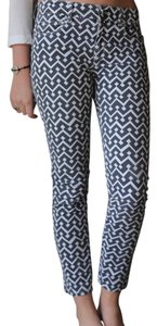 Gap Skinny Pants Grey & White Print