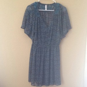 Target short dress Teal Bohemi Bohemian Print on Tradesy