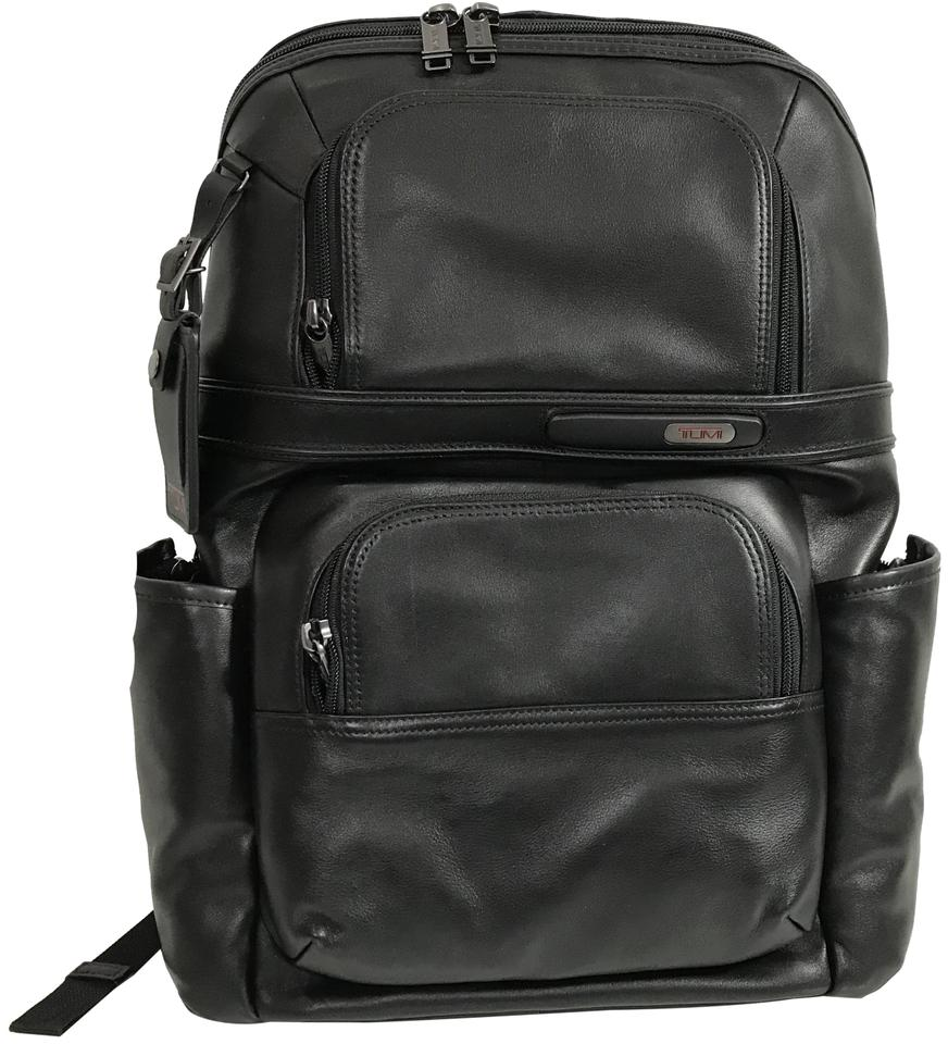 3193270a8 Tumi New Men's Compact Laptop Black Leather Backpack - Tradesy