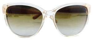 Jimmy Choo Jimmy Choo Beige Silver Star Studded Sunglasses