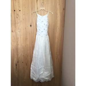 Jessica McClintock White Formal Wedding Dress Size 4 (S)