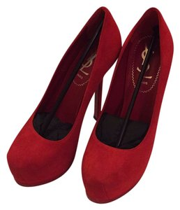 Saint Laurent Lipstick Red Platforms