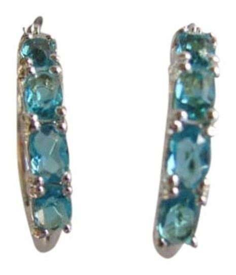 Preload https://img-static.tradesy.com/item/791010/blue-silvertone-round-loop-earrings-0-0-540-540.jpg