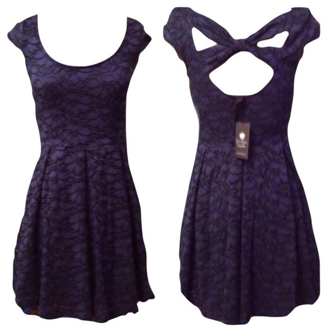 Jessica Simpson short dress Indigo on Tradesy