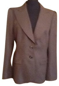 Escada Size 10 Size 8 Pink Casual Designer Wool Paige Brown Light brown Blazer