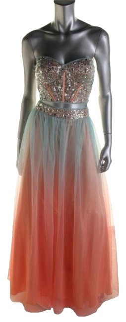 Item - Pink/Blue 55129/Semi-formal Long Formal Dress Size 4 (S)