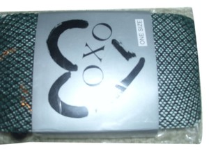 XOXO Green black fishnet stockings leggins hosiery new in package XOXO sexy cool