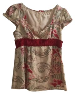 Nanette Lepore Top Red, Creme, Light Olive
