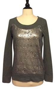 J.Crew Silver Sequin Sequined Sequins Pullover Going Out Sweatshirt