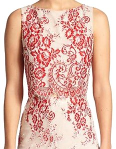 Alice + Olivia Top Red and Creme