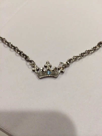 Unknown Vintage Erica Courtney Silver Crown necklace