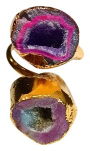 Other New Agate Geode Druzy Gemstone Ring Adjustable Size 6-8 J1432
