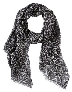 Sir Alistair Rai Sir Alistair Rai Lace Print Cashmere Blend Scarf Wrap