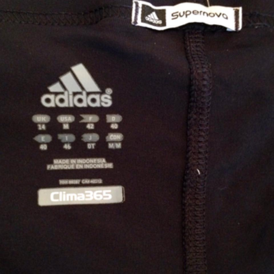 adidas Black Clima365 Activewear Bottoms Size 10 (M, 31)