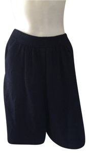 St. John Blue Navy Designer Dress Shorts