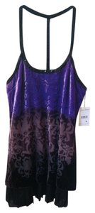 Free People Top Black Purple