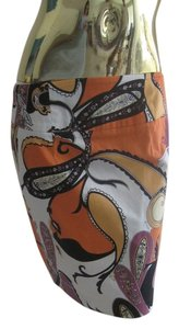 Premise Mini Skirt Multicolor, orange, purple, black and white