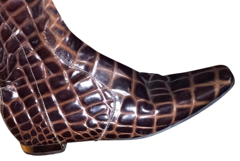 women Tory Burch in Brown Crocco Boots/Booties a good reputation in Burch the world 201826