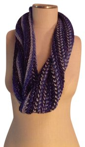 Coldwater Creek Frosted Infinity Blues Scarf Sample
