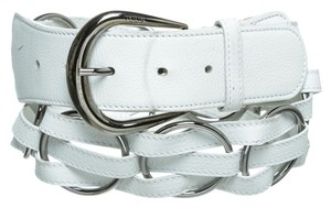 Tod's Tod's White Leather Belt (Size 85)