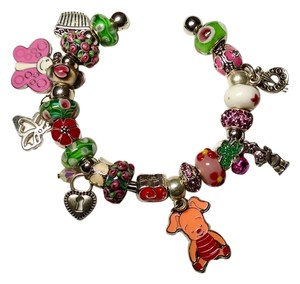 Other European Charm Bracelet + 23 Charms Piglet J1436