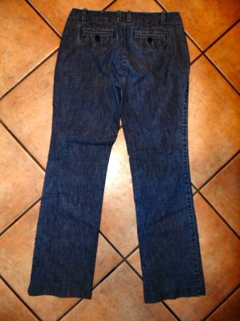 Gap The Size 4 P2210 Straight Leg Jeans-Medium Wash
