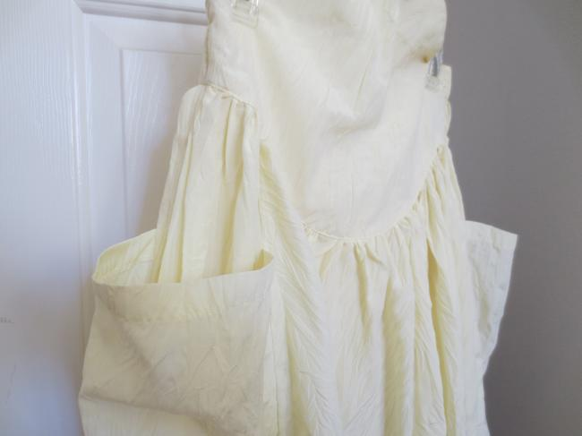 Other Prairie Yellow Tea Length Pockets Full Hook Closure Maxi Skirt Pale Yellow