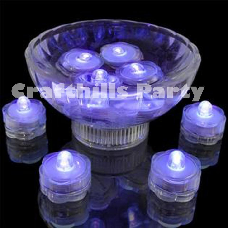 Wedding Centerpieces With Submersible Lights : Wedding Centerpieces With Submersible Led Lights 24-pcs-led-purple ...
