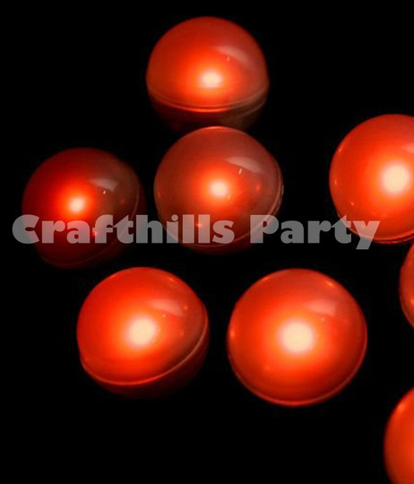 Red 48 Pcs Led Fairy Mini Glowing Waterproof Floating Ball Light For Party Floral Decoration