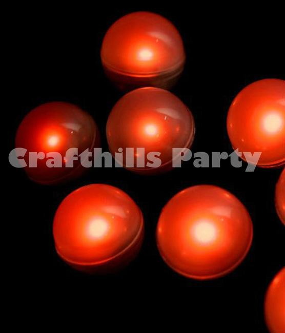 Item - Red 48 Pcs Led Fairy Mini Glowing Waterproof Floating Ball Light For Party Wedding Floral Decoration