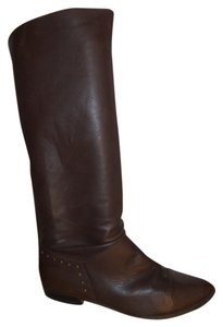 Nine West Leather Riding brown Boots